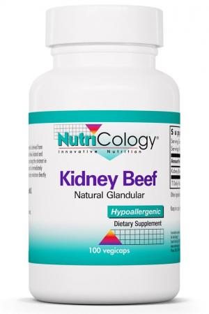 Kidney Beef Natural Glandular 100 Vegicaps