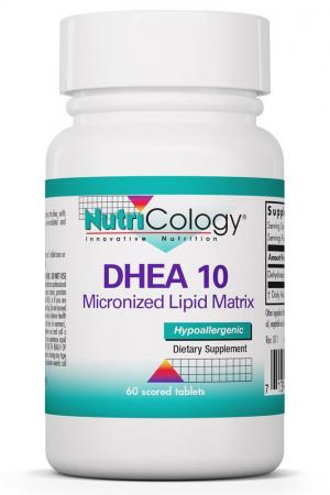DHEA 10 mg Micronized Lipid Matrix 60 Scored Tablets