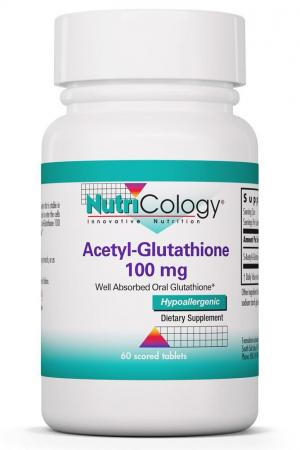 Acetyl-Glutathione 100 mg 60 Scored Tablets