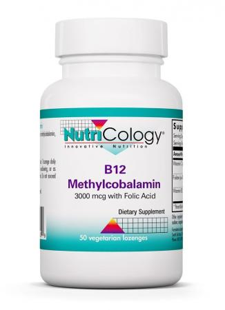 B12 Methylcobalamin 3000 μg with Folic Acid 50 Vegetarian Lozenges