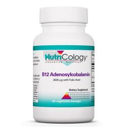 B12 Adenosylcobalamin 3000 μg with Folic Acid 60 Vegetarian Lozenges